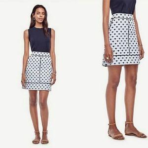 Ann Taylor | Floral Fan Jacquard Knee Length Skirt